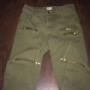 H&M conscious collection ankle length zipper pant